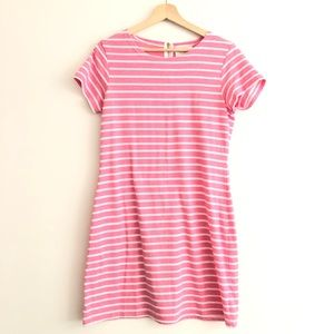 Sail to Sable | pink striped short sleeve dress